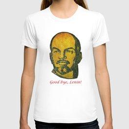 Goodbye Lenin fresco in the ex Soviet military base in Latvia  T-shirt