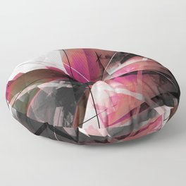 Echoes of Expansion - Geometric Abstract Art Floor Pillow