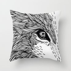 wolf like me Throw Pillow
