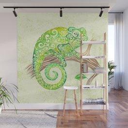 Swirly Chameleon Wall Mural