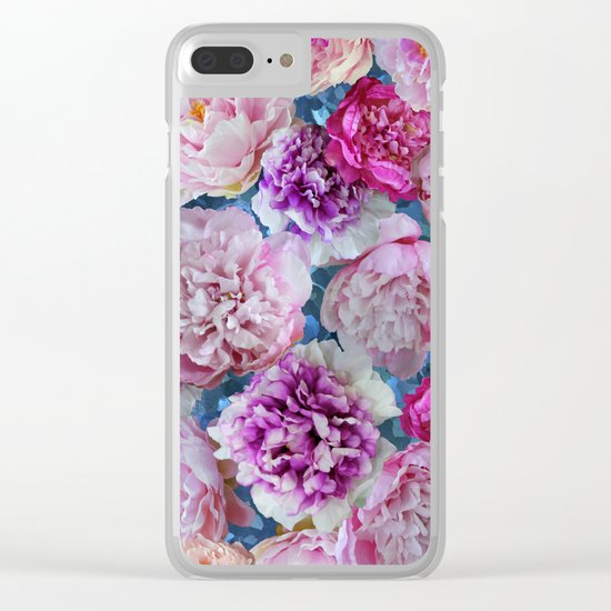 Peonies Clear iPhone Case