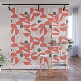 Living Coral Abstract Wall Mural