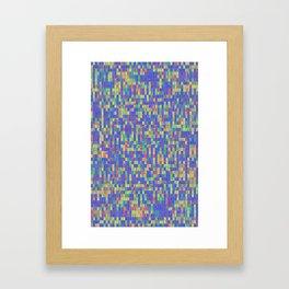 Swim in colours Framed Art Print