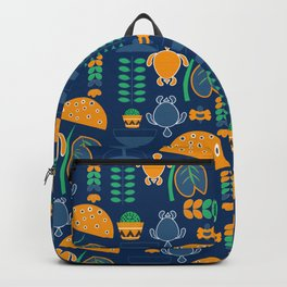 Happy pattern with turtles and cacti Backpack