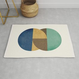 Circle color pieces abstract geometric Rug