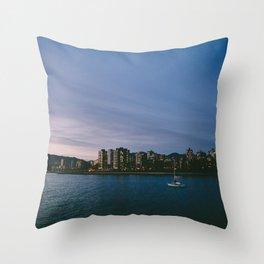 Lone Sailor Throw Pillow