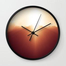 enjoying sunrise Wall Clock