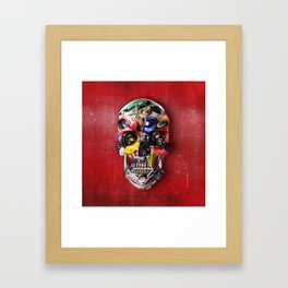 Hot Rod Skull Framed Art Print