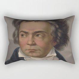 Vintage Portrait of Ludwig van Beethoven (1870) Rectangular Pillow