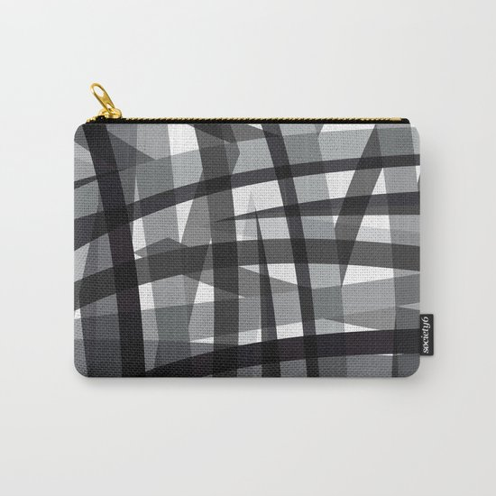 grey crossed stripes Carry-All Pouch