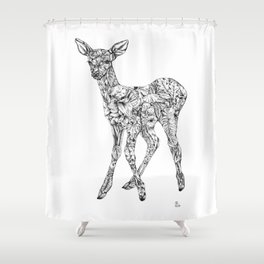 Leafy Deer Shower Curtain