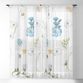 Spring Flowers, Nature 44 Sheer Curtain