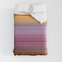 Hibiscus stripes Duvet Cover