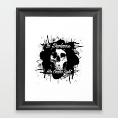 In Darkness, We Crave Light Framed Art Print