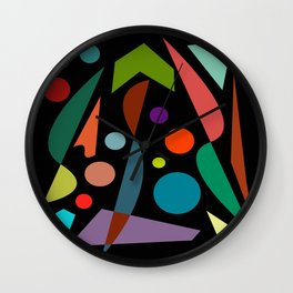 Abstract #306 String Trio Wall Clock