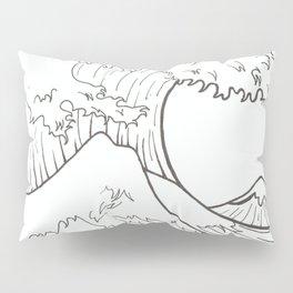 The wave of Kanagawa Pillow Sham