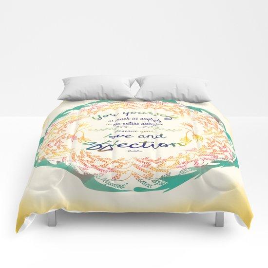 Buddha Quote Comforters