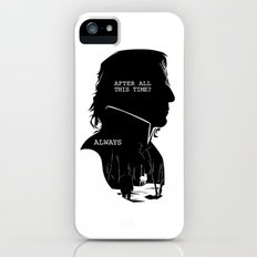 Snape - Quote Silhouette iPhone (5, 5s) Slim Case