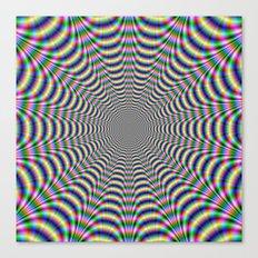 Psychedelic Web Canvas Print