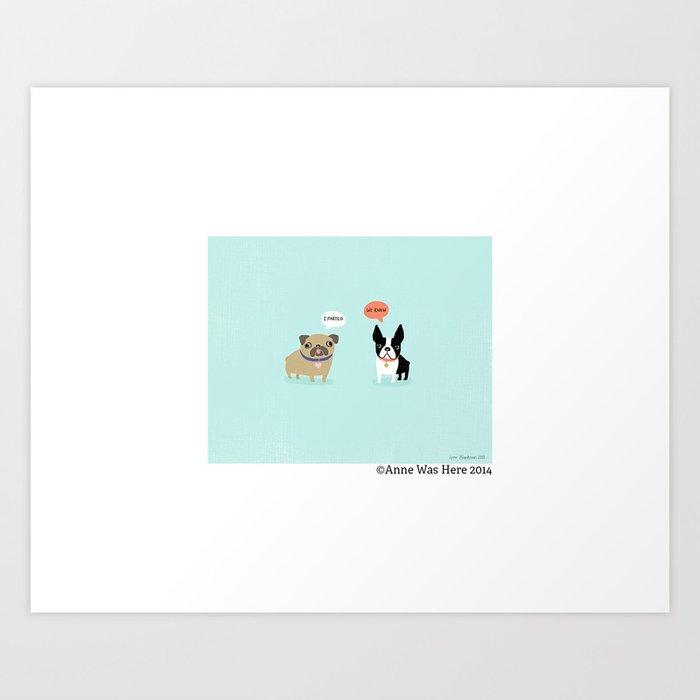 Dog Fart Art Print