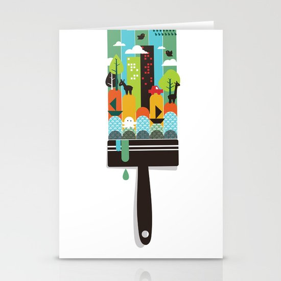 Paint your world Stationery Cards