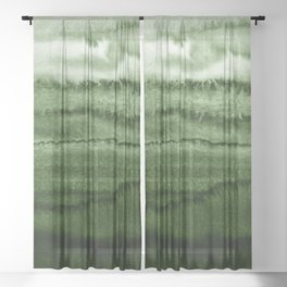 WITHIN THE TIDES FOREST GREEN by Monika Strigel Sheer Curtain