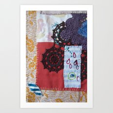 textile collage Art Print