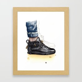 Buscemi 100MM Fashion Illustration Framed Art Print