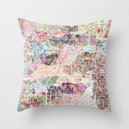 Las Vegas map Nevada Throw Pillow