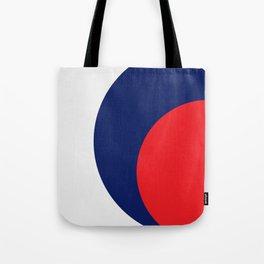 Cercle  orange bleu Tote Bag