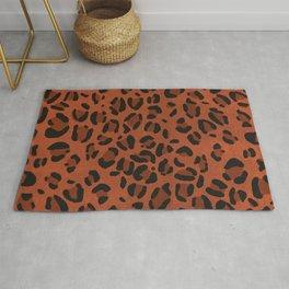 Scene Kid Leopard Print (ORANGE) Rug