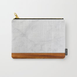 Marble and Wood 2 Carry-All Pouch