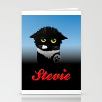 stevie nicks Stationery Cards featuring Stevie by Mike Halliday