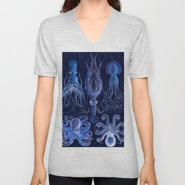 Haeckel Octopi Unisex V-Neck