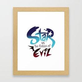 star vs the forces of evil Framed Art Print