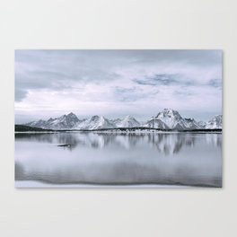 Mountains + Lake Canvas Print