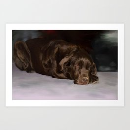 Lab in waiting Art Print