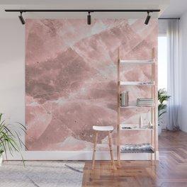 Rose quartz stone Wall Mural