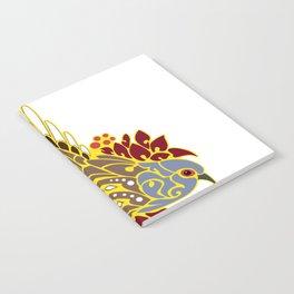 Diamond dove bird tribal tattoo Notebook