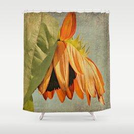 Orange Sunflower Shower Curtain