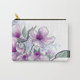 Cherry Blossom Ink and Watercolor Carry-All Pouch