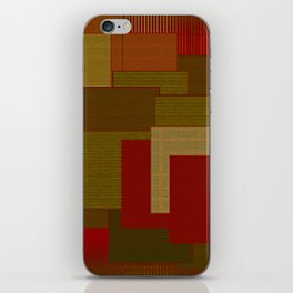 Red Color Geometry iPhone Skin