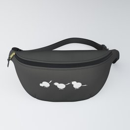 Chicks in a Row - black Fanny Pack