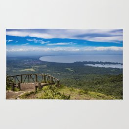 View from Mombacho Volcano of Lake Nicaragua and Islands Rug