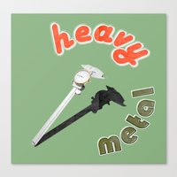 heavy metal Canvas Prints featuring Heavy metal by Michael Mann