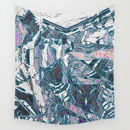 Silvery Fragmentation Wall Tapestry