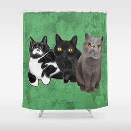 Poohkie, Mer, and Bart Shower Curtain
