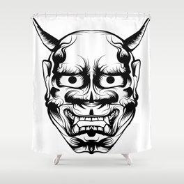 Hannya Art Mask Shower Curtain