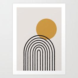 Rainbow, Gold Sun,  Art Print