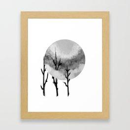 Three Sticks One Circle No.2 Framed Art Print